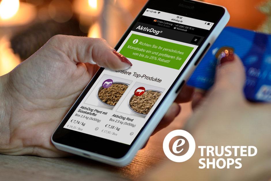 AktivDog ist jetzt Trusted Shops zertifiziert