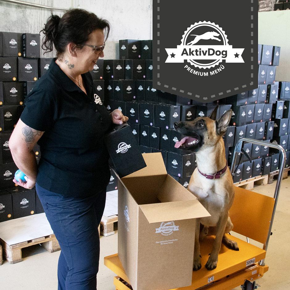 Bettina und Atreyu: Mitarbeiter bei AktivDog Premium Hundefutter